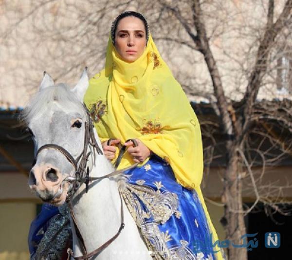 اسب سواری خانم بازیگر