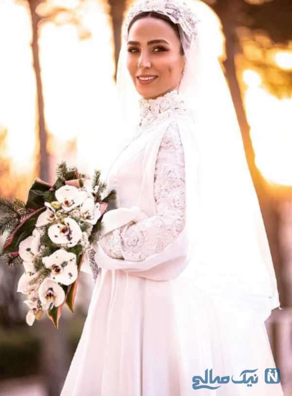 سوگل طهماسبی با لباس عروس