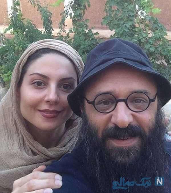 تصویری از سولماز غنی و همسرش