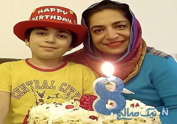 جشن تولد ۸ سالگی برسام پسر ساناز سماواتی با کیک زیبا