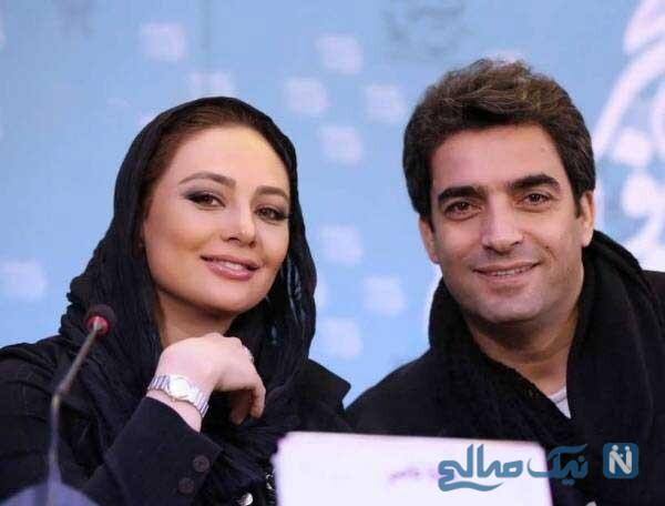 منوچهر هادی و همسرش