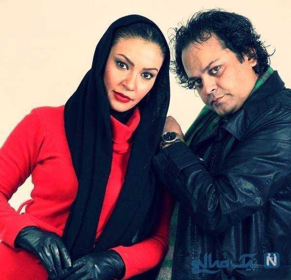 زیبا بروفه بازیگر ایرانی و همسرش