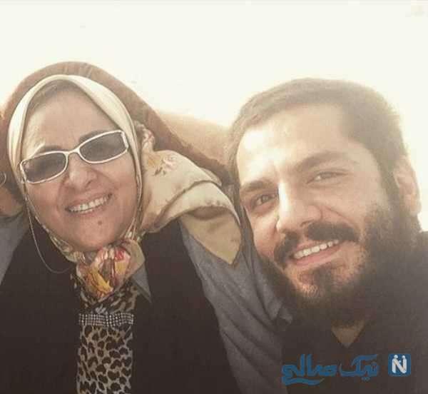 تصویری از عباس غزالی و مادرش