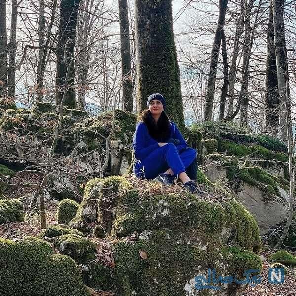 پریناز ایزدیار در جنگل های شمال