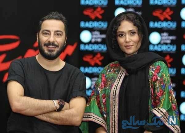 پریناز ایزدیار هنرپیشه معروف درکنار نوید محمدزاده