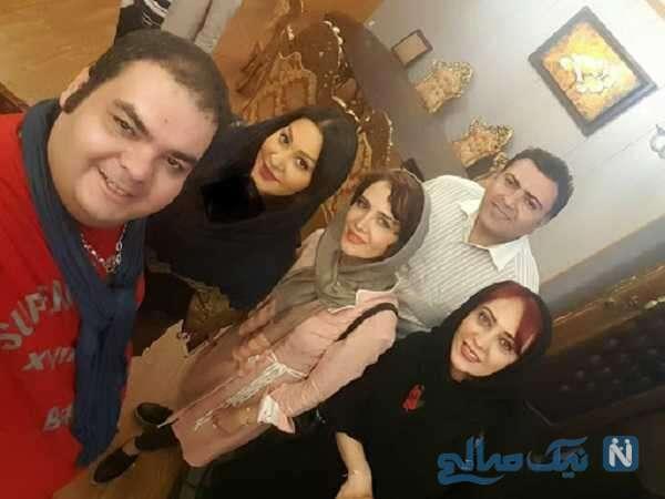 علی برقی در کنار بازیگران معروف