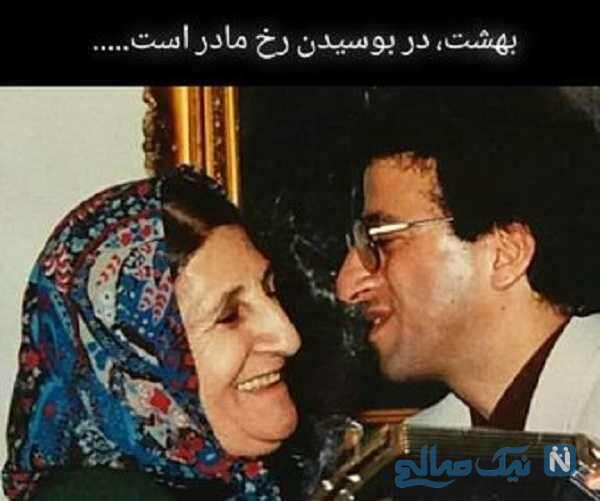 تصویری از علیرضا خمسه و مادرش