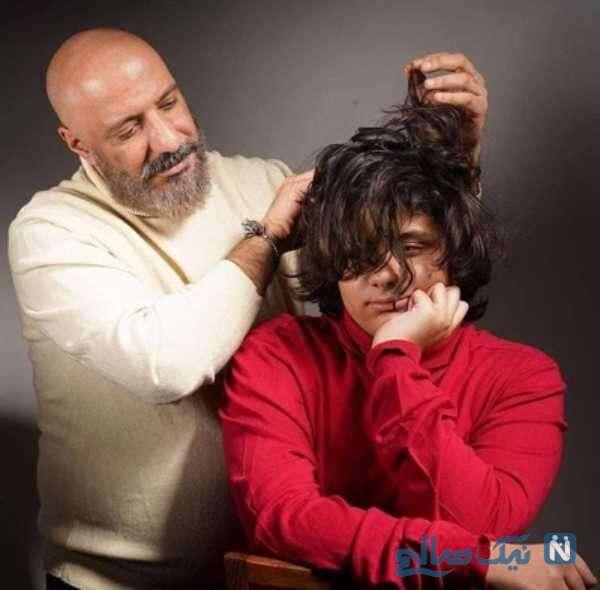 تصویری از موهای ژولیده پسر امیر جعفری