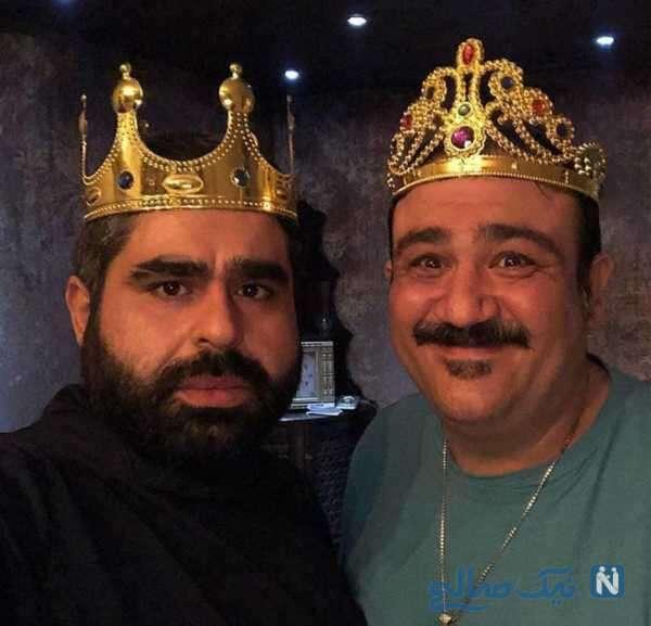 مهران غفوریان در کنار بازیگر معروف