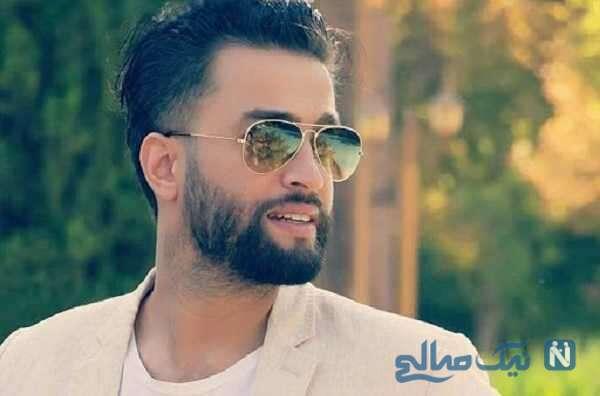 عذرخواهی بنیامین بهادری خواننده معروف از همسرش در برنامه زنده