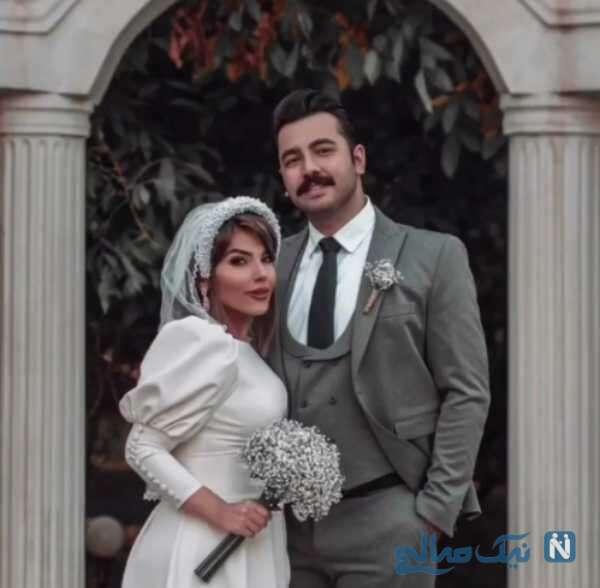 عاطفه کرمانی و همسرش