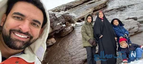 عکس آذری جهرمی و خانواده اش