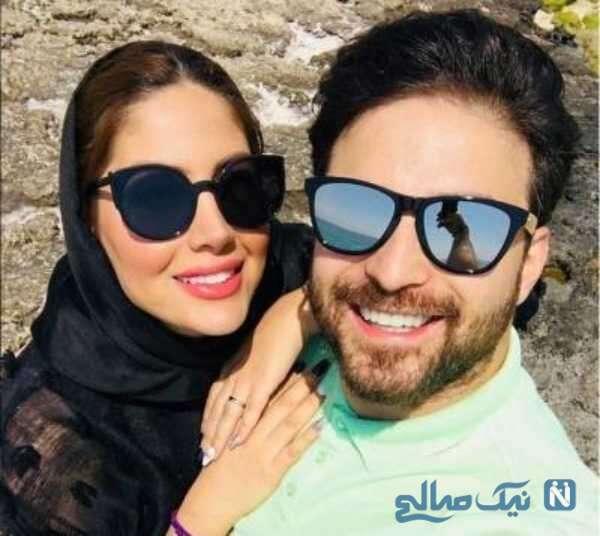 تصویری از بابک جهانبخش با همسرش