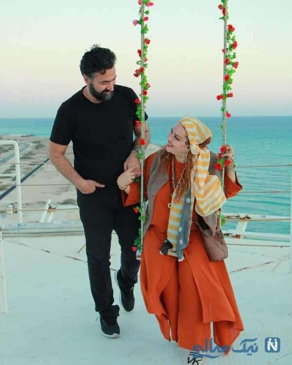 بهاره رهنما و همسرش در کیش