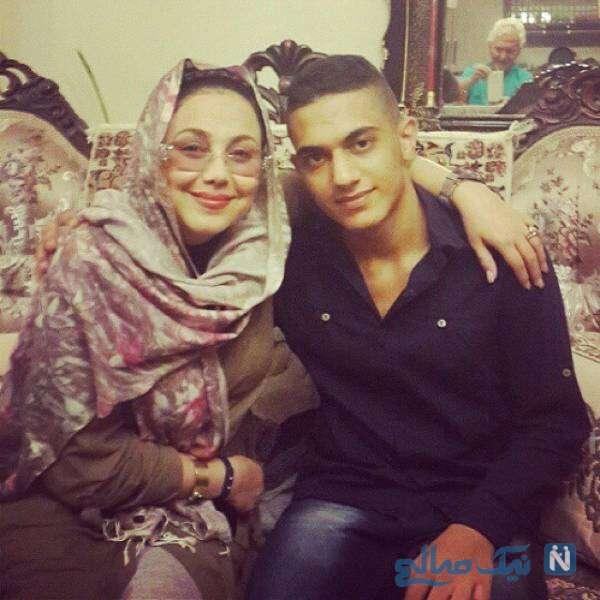 تصویری از بهنوش بختیاری و خواهرزاده اش
