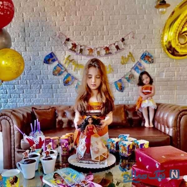 جشن تولد تیارا دختر رضا صادقی با کیک زیبا