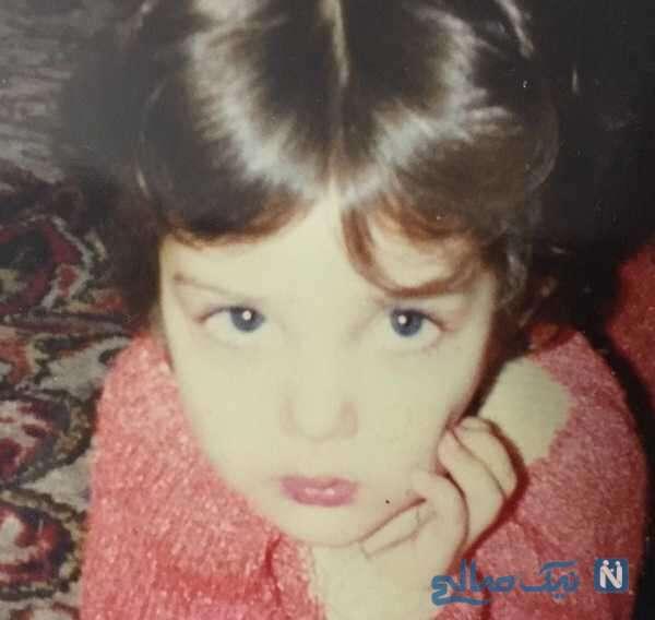تصویری جالب از کودکی لیلا اوتادی بازیگر
