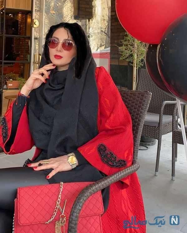 ست قرمز مشکی لباس لیلا بلوکات