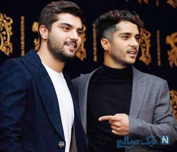تبریک تولد سینا مهراد به برادرش