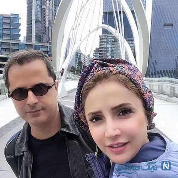 بازیگر شبنم قلی خانی و همسرش