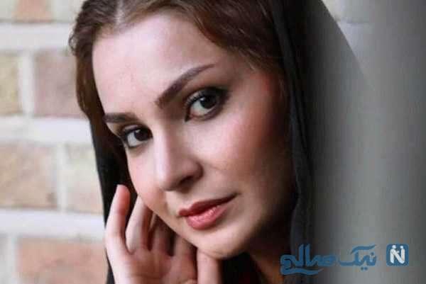 مهدیه نساج بازیگر سریال بیگانه ای با من است در کنار همسرش