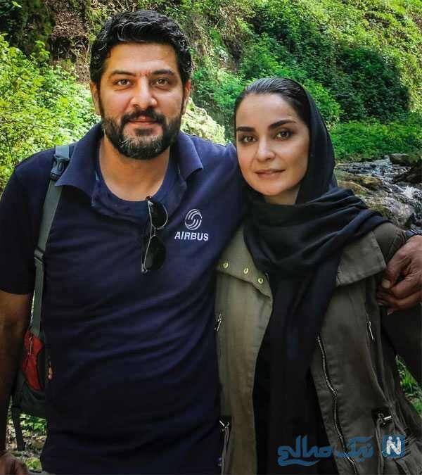 تصویری از مهدیه نساج و همسرش