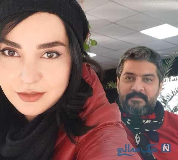 مهدیه نساج در کنار همسرش