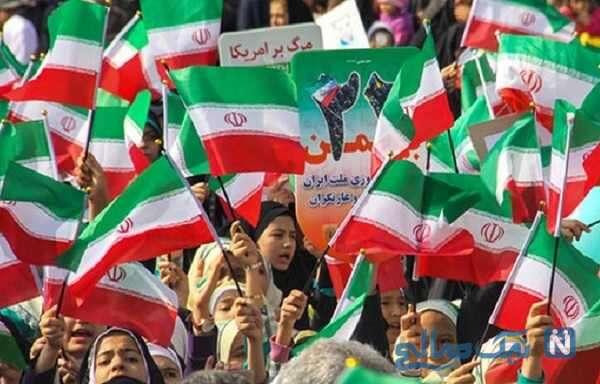 راهپیمایی ۲۲ بهمن با حضور پرشور مردم در تهران
