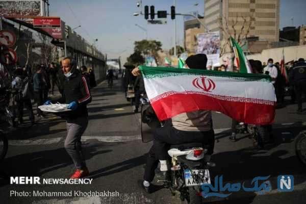 تصاویری از راهپیمایی 22 بهمن