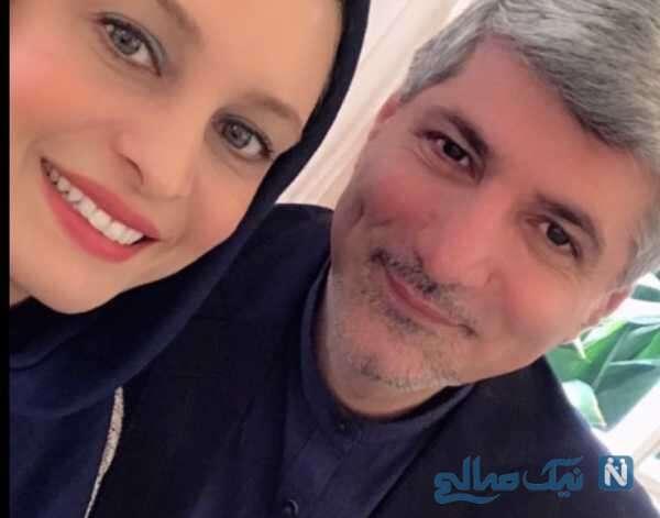 سلفی مریم کاویانی و همسرش
