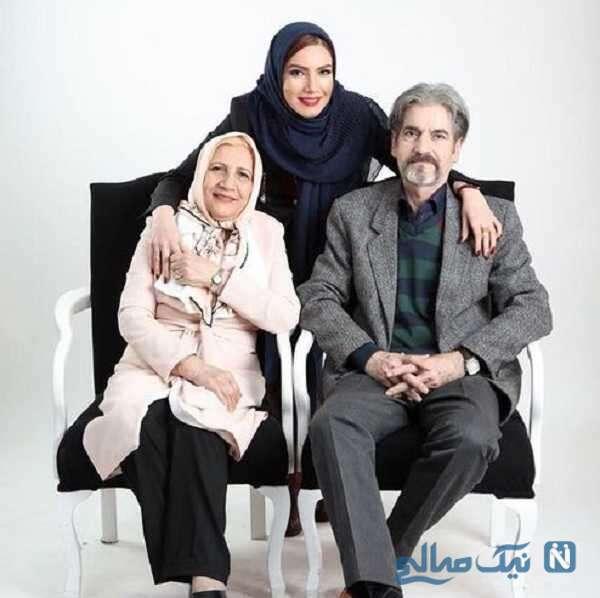 متین ستوده بازیگر سینما در کنار پدر و مادرش