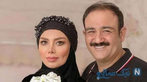 مهران غفوریان به همراه همسرش آرزو