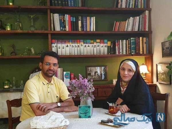 تصویری از محمدجواد آذری جهرمی و همسرش