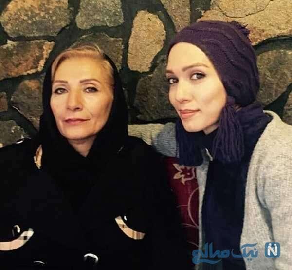 عکس جدید شهرزاد کمال زاده و مادرش