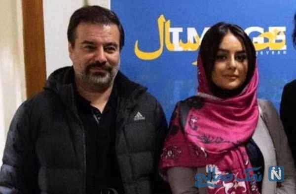 میترا ابراهیمی و همسرش