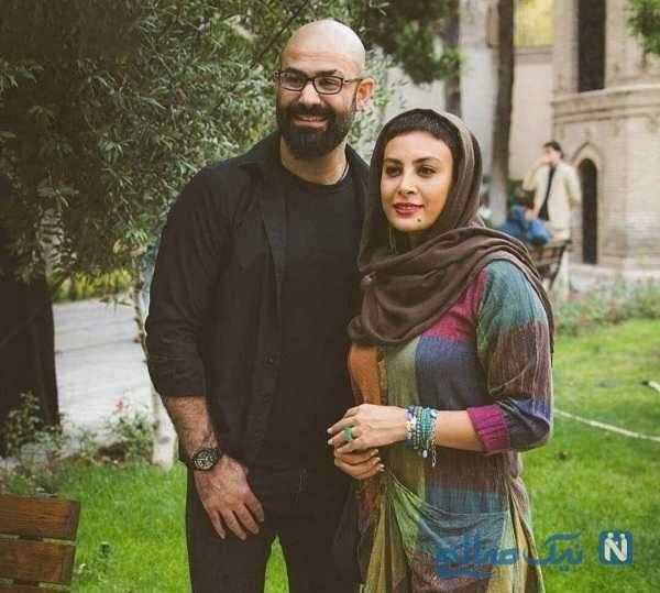 حدیثه تهرانی بازیگر زن و همسرش
