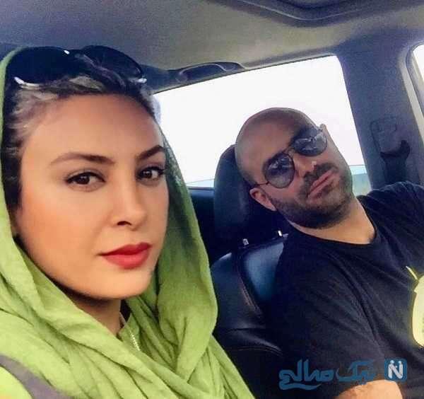 عکس حدیثه تهرانی و همسرش کیان مقدم
