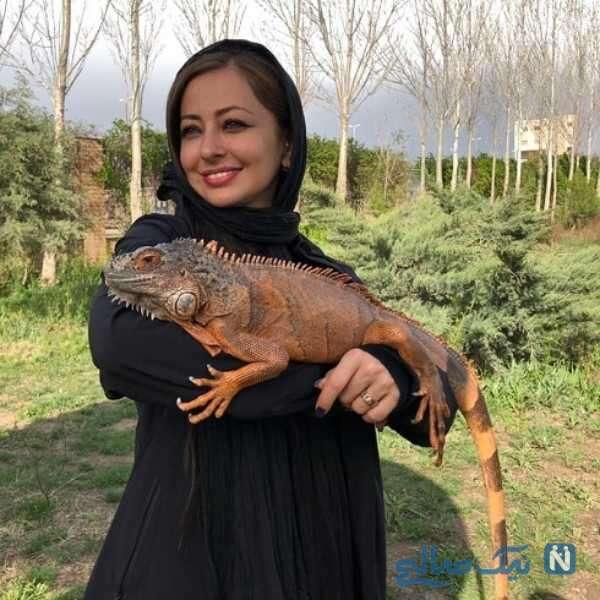 عکس حیوانات نفیسه روشن بازیگر