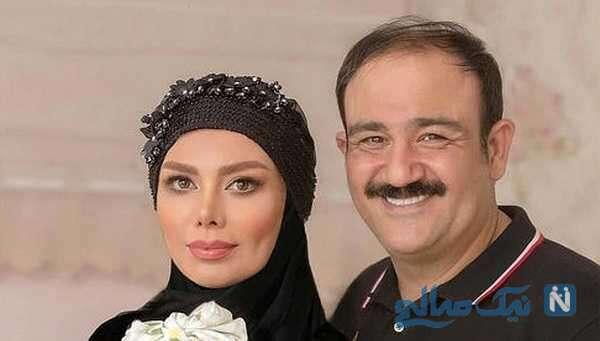 تصویر مهران غفوریان و همسرش آرزو