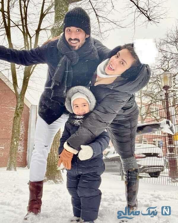 همسر و پسر رضا قوچان نژاد
