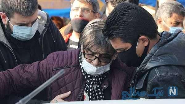 رضا رویگری بازیگر ایرانی در مراسم تشییع انصاریان
