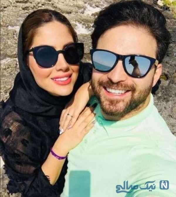 عاشقانه بابک جهانبخش و همسرش پریا