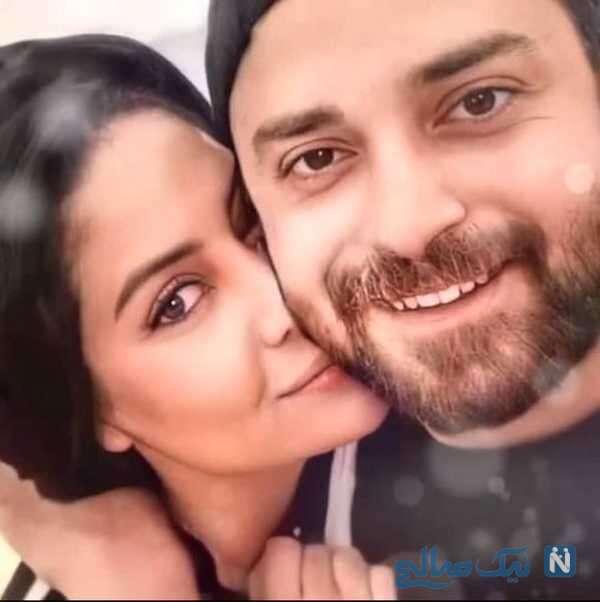 سلفی بابک جهانبخش و همسرش