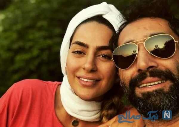 تصویری از عاشقانه های سمانه پاکدل و همسرش