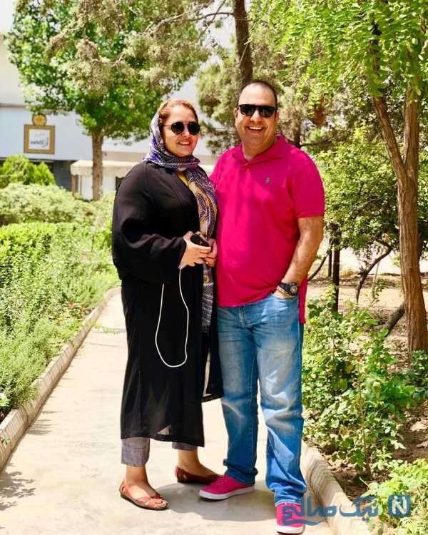 عکس عاشقانه نرگس محمدی و همسرش علی اوجی