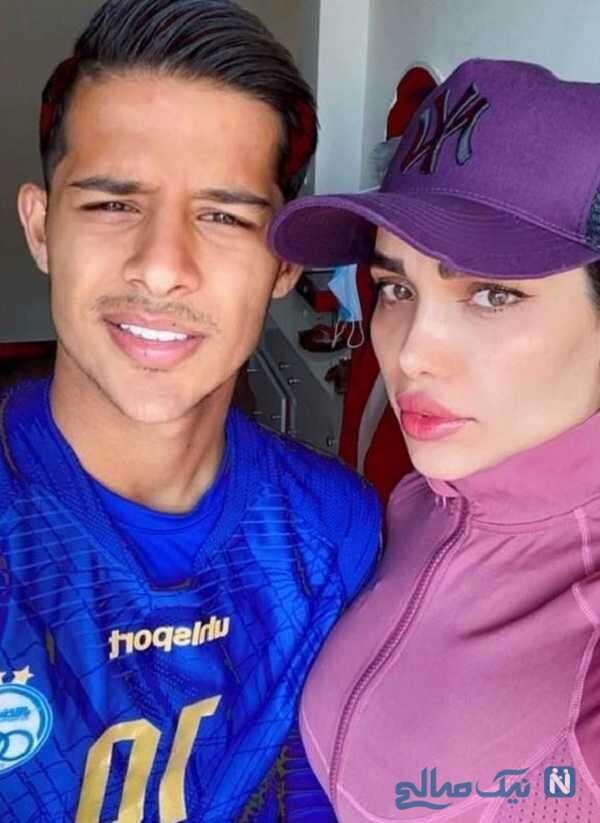 همسر فوتبالیست معروف
