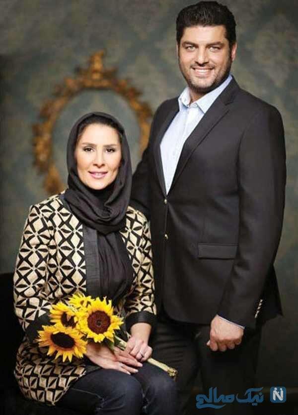 سام درخشانی با همسرش عسل