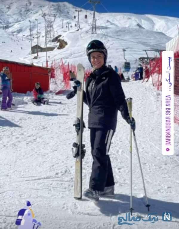 شبنم فرشادجو در پیست اسکی
