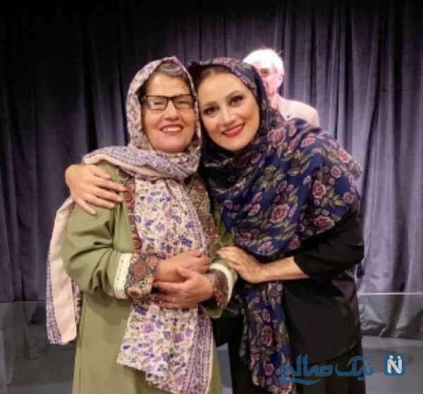 تصویری از شبنم مقدمی و مادرش