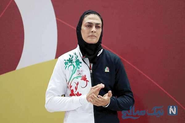 تبریک روز عشق شهربانو منصوریان بانوی ووشو کار ایرانی به همسرش